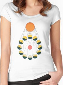 SUN+MOON+EARTH Women's Fitted Scoop T-Shirt