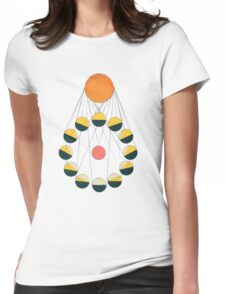 SUN+MOON+EARTH Womens Fitted T-Shirt