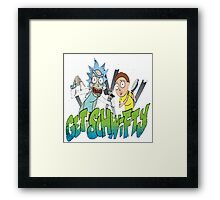 rick and morty get schwifty Framed Print