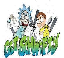 rick and morty get schwifty Photographic Print
