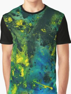 Blue Green Chaos - Abstract painting  Graphic T-Shirt