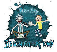 rick and morty singing Photographic Print