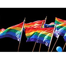 Gaypride flags Photographic Print