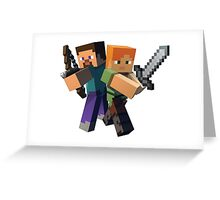 Minecraft Protagonists Greeting Card