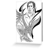 Patrick Stump - Mitochondrial doodle Greeting Card