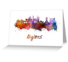 Algiers skyline in watercolor Greeting Card