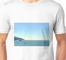 The blue sea with ships from Portofino Unisex T-Shirt