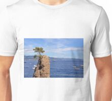 Lonely tree and the blue sea from Portofino Unisex T-Shirt