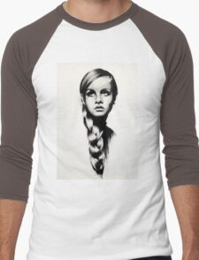 twiggy Men's Baseball ¾ T-Shirt