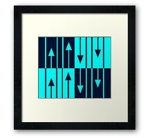 The Only Way is Up, Baby - blues Framed Print