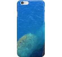 The blue sea and rocky land. iPhone Case/Skin