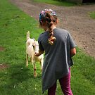 QUINN FEEDING THE GOATS by leonie7