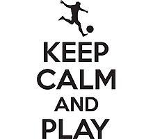 Keep calm and play Photographic Print
