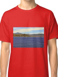 The blue sea and hills from Portofino. Classic T-Shirt