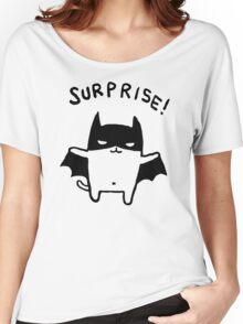 Bat Printed Loose Summer Women's Relaxed Fit T-Shirt