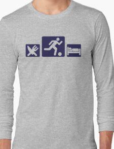 Eat, play, sleep - Football, Soccer Long Sleeve T-Shirt