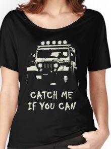 Off Road 4X4 Rover Jeep Hilux AWD 90 110 Cruiser Women's Relaxed Fit T-Shirt