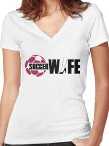 Soccer wife Women's Fitted V-Neck T-Shirt