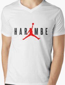 Harambe X Jordan Mens V-Neck T-Shirt