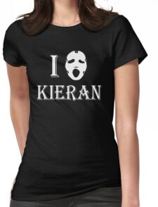 I love Kieran - White Womens Fitted T-Shirt