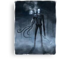 Steampunk Slender Man Canvas Print