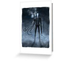 Steampunk Slender Man Greeting Card