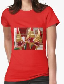 Naga Statue Womens Fitted T-Shirt