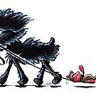 Busy Affenpinscher by offleashart
