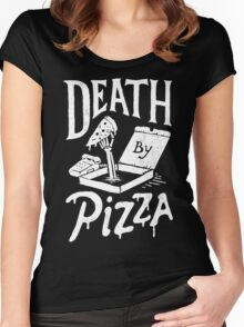 Death By Pizza Women's Fitted Scoop T-Shirt