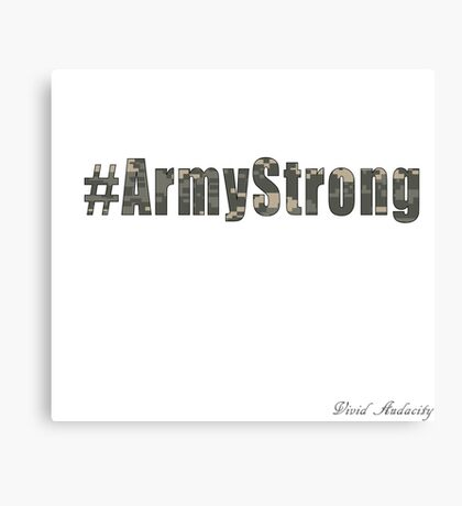 ARMY STRONG Canvas Print