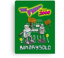 Flight of the Conchords - Binary Solo - Robots 2 Canvas Print