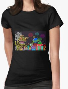 Monster in Paradise Womens Fitted T-Shirt