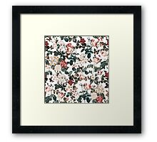 Floral and Butterflies II Framed Print