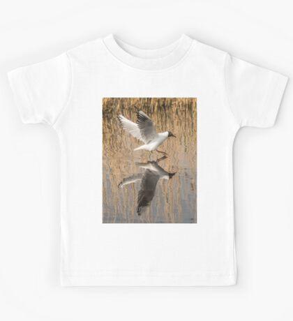 Black Headed Gull Mirror Image Kids Tee