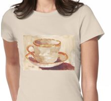 Be a coffee-drinking individual - Espresso yourself!  Womens Fitted T-Shirt