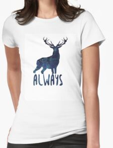 Harry Potter - Always Petronus Male Deer Womens Fitted T-Shirt