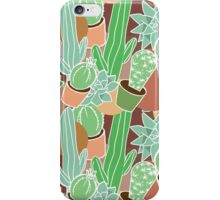 cactus succulent seamless pattern iPhone Case/Skin