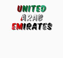United Arab Emirates Word With Flag Texture Unisex T-Shirt