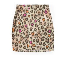 Animal pattern with neon color Mini Skirt