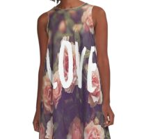 Love with Gorgeous Flowers A-Line Dress