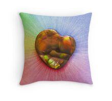Rainbow Fire Agate Throw Pillow
