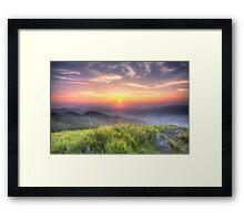 Sunset mountains in Hong Kong Framed Print