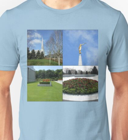 The Preston Temple Grounds in Spring and Summer Unisex T-Shirt