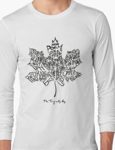 THE TRAGICALLY HIP - SUMMER TOUR 2016 - TYPOGRAPHY BLACK Long Sleeve T-Shirt