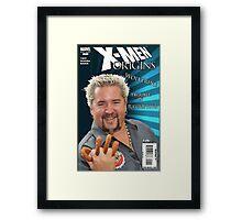 Guy Fieri/ Wolverine Mash up Framed Print