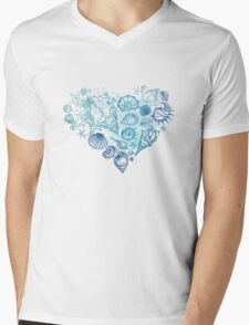 Heart of the shells. Mens V-Neck T-Shirt