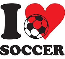 I love soccer Photographic Print