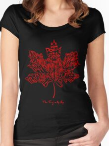 THE TRAGICALLY HIP - SUMMER TOUR 2016 - TYPOGRAPHY RED Women's Fitted Scoop T-Shirt