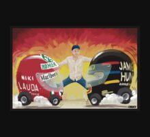 James Hunt Vs. Niki Lauda by Cirebox