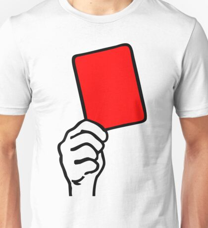 Foul - red card Unisex T-Shirt
